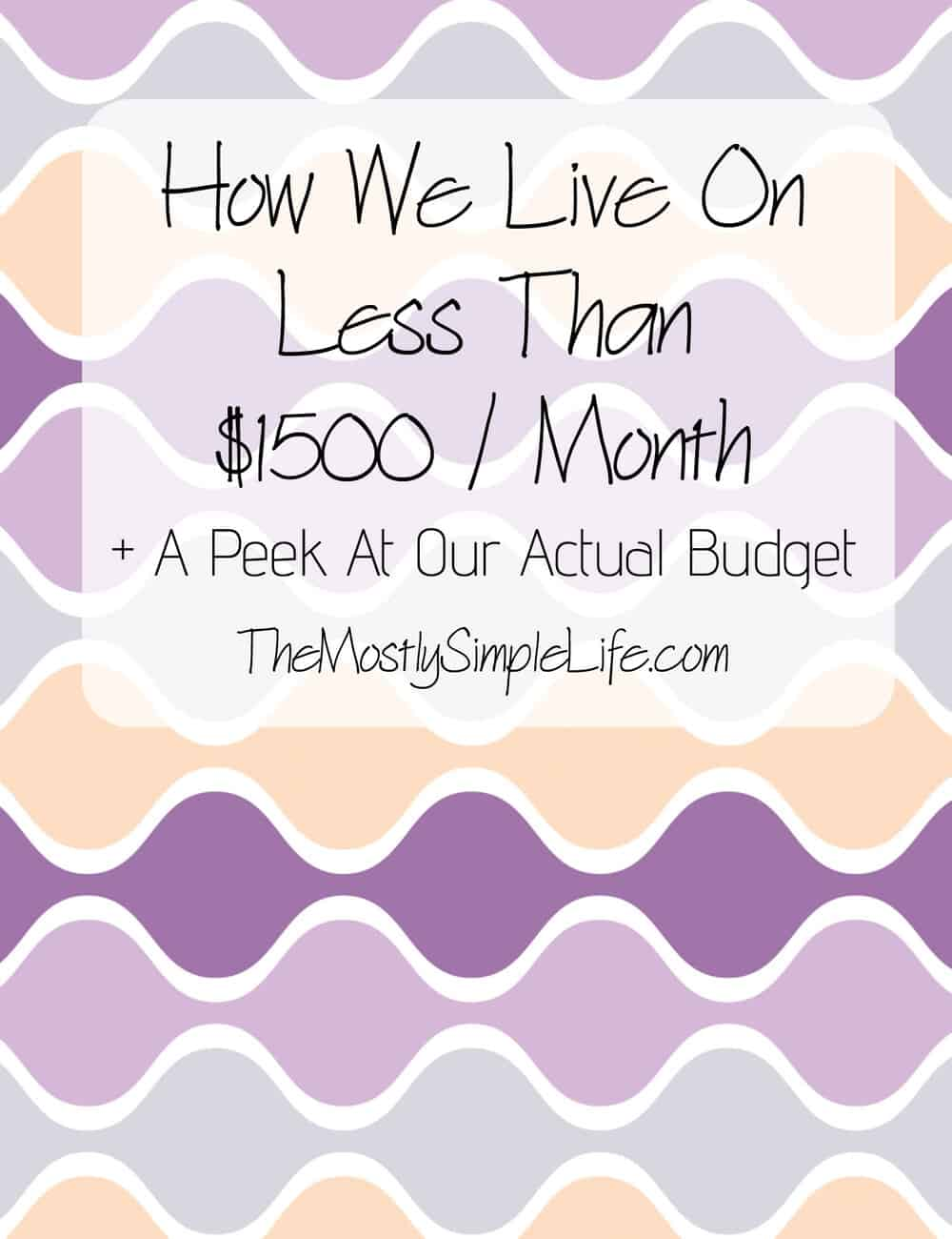 how to live on less money