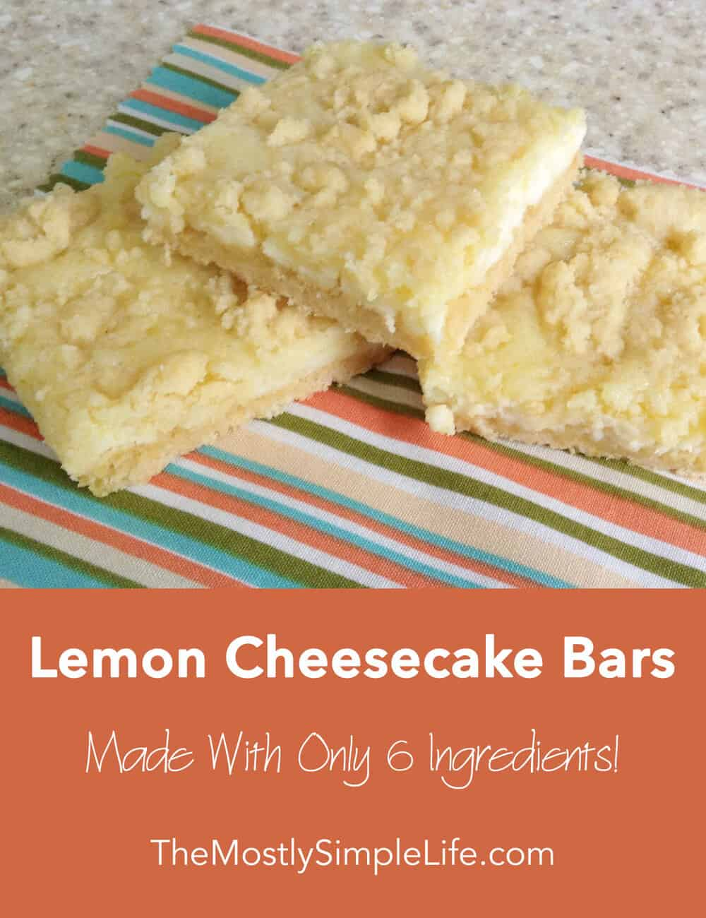 Lemon Cheesecake Bars - The (mostly) Simple Life