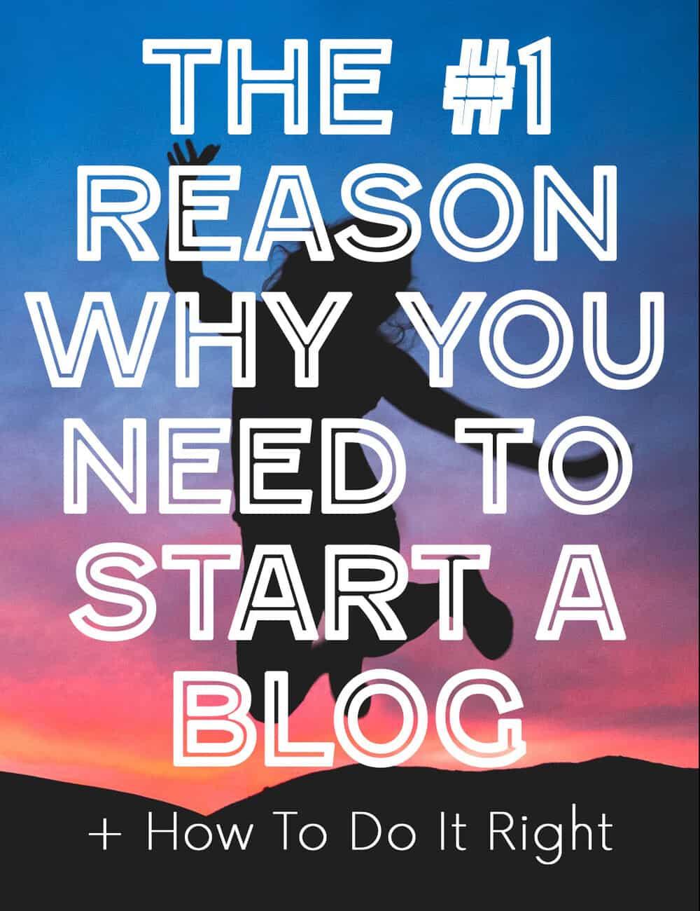start a blog feature