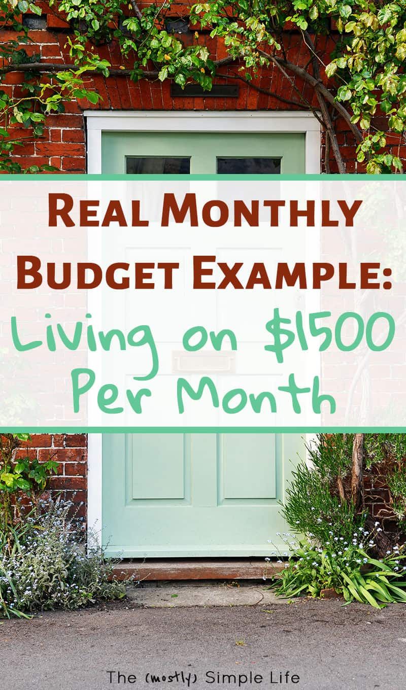 How We Live On Less Than $1500 A Month: Our Actual Budget. Love seeing a real life example of living on a tight budget! There are some good tips in here and a free budget worksheet. Nice to see it broken down for beginners :) #budget #printable #monthlybudget #daveramsey #frugalliving #frugal #livingonless
