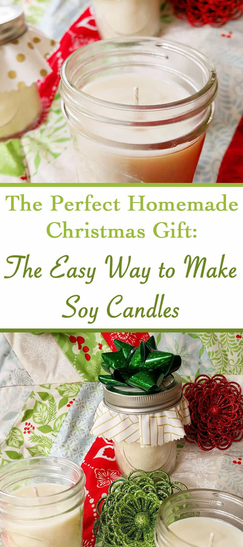 DIY soy candles! This is an great tutorial - gonna make handmade Christmas gifts this year. Such cute soy candles in mason jars! The scents must be amazing! This looks so easy! #candles #candlemaking #DIY #giftideas #Christmas #homemade #diygifts #homemadegift #giftsforwomen #giftsforher #giftsforteachers