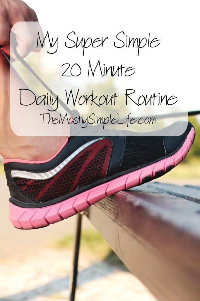 Super simple workout routine that can be done at home with little equipment!