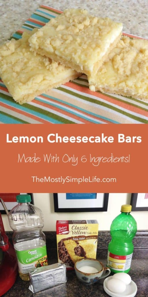 Long Lemon Cheesecake Bars