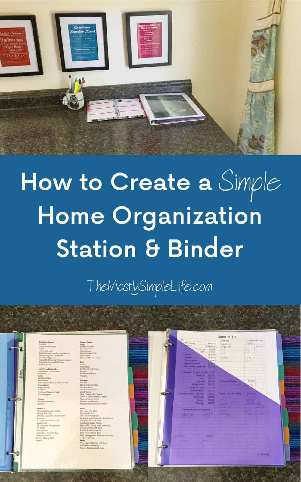 DIY Homemaking Binder | Great ideas for household organization. They keep their budget, meal planning, contact info, and other important paperwork in here. I need a home organization station so bad!