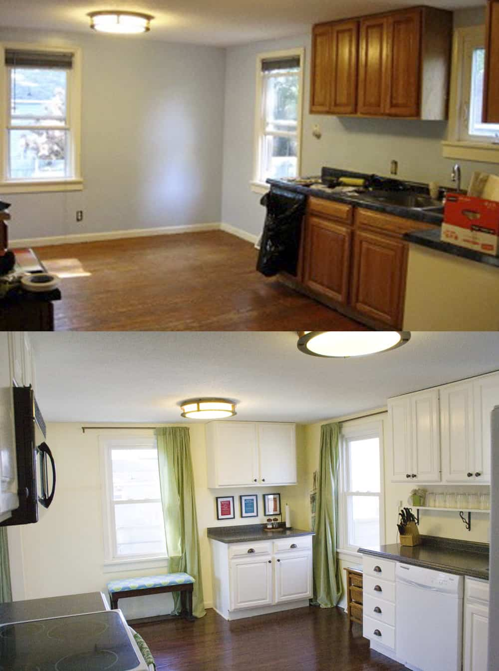 Fix Up Your House When You're Broke   DIY   Kitchen Redo