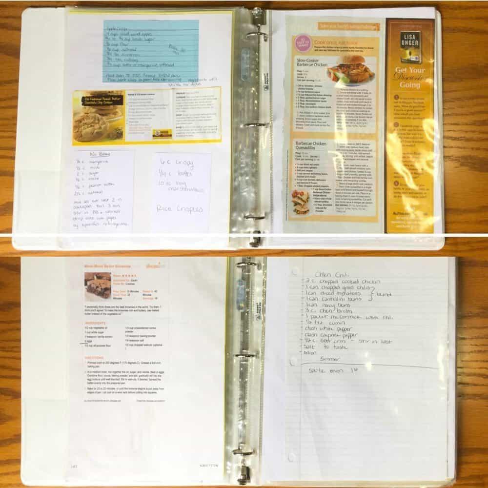 recipe binder pic