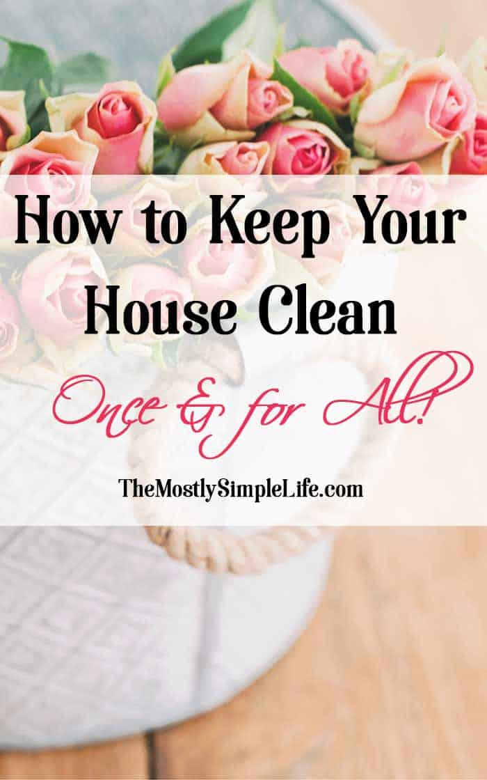 How To Keep Your House Clean Once For All The Mostly