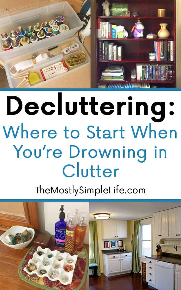 Decluttering where to start when you re drowning in for How to get rid of clutter