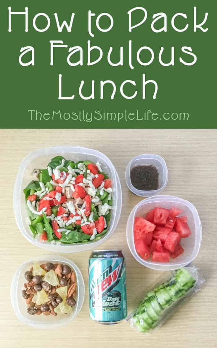Tons of lunch ideas! These are great for school or work. Easy and healthy choices and I can definitely make this ahead of time (the night before) to take to work. Nice that there are options for a cold lunch or things to bring when I have a way to heat them up...