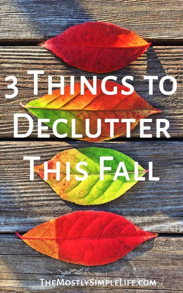 3 Things to Declutter This Fall | Keep your home organized | Purge what you don't need this fall | Pin now and save for later...