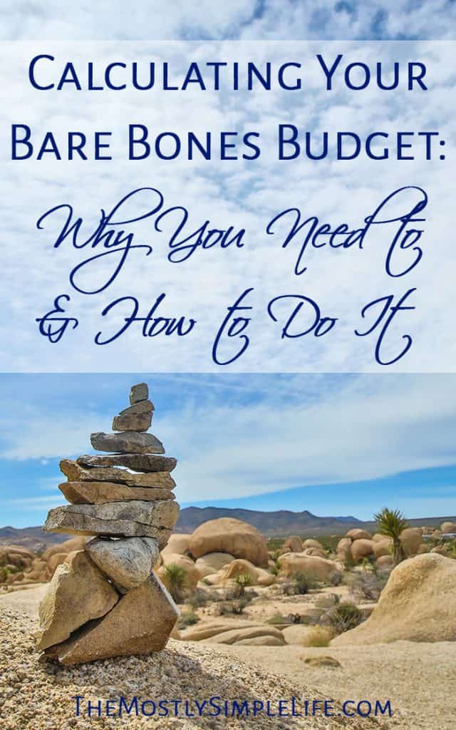 Calculating Your Bare Bones Budget: Why You Need to & How to Do It   Budgeting in an Emergency   Cut Your Expenses   Pin now and save for later!