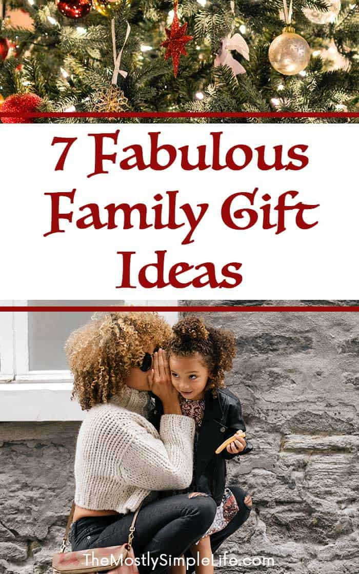 7 Fabulous Family Gift Ideas - The (mostly) Simple Life