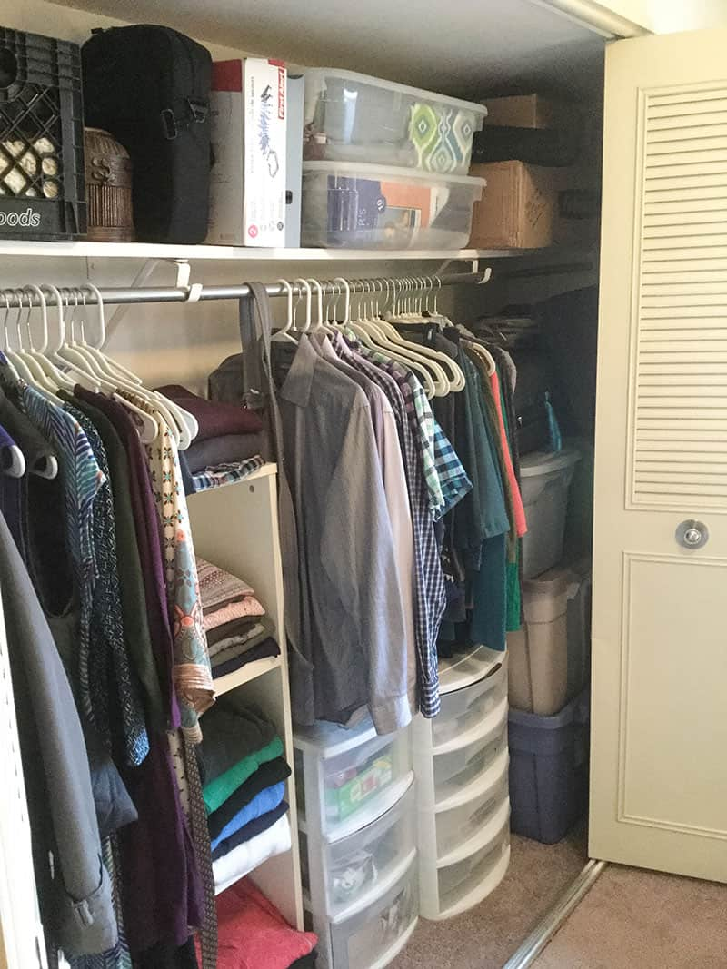 Over On The Right Side Of The Closet, We Have Our Storage Tubs Stacked.  Hereu0027s A Better View: