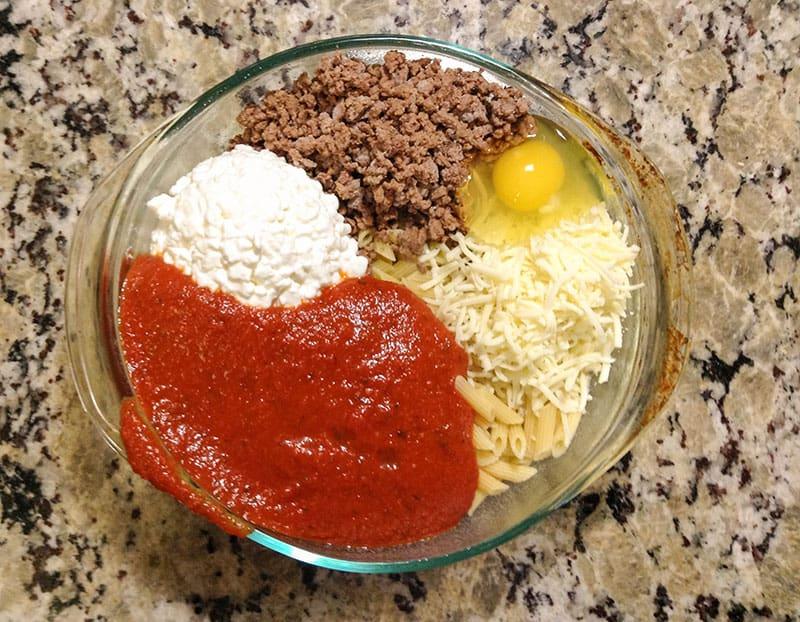 Cheater Lasagna - super easy lasagna!