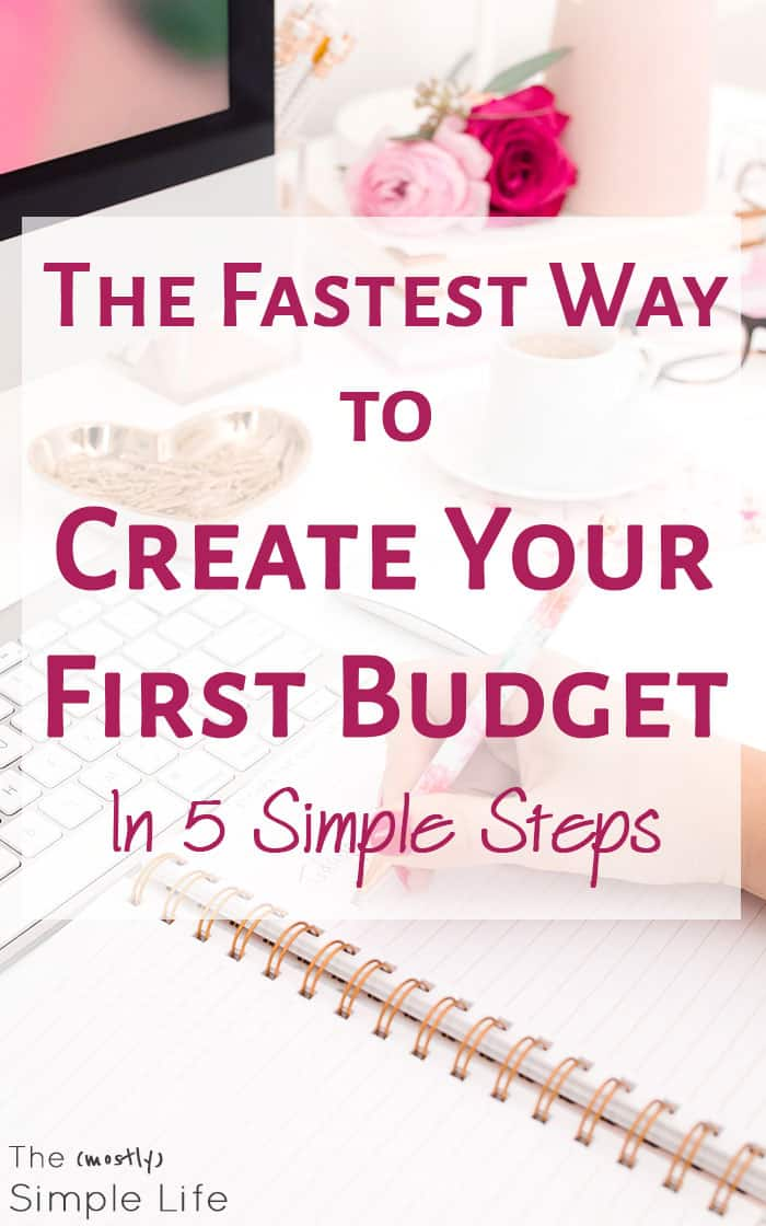 The Fastest Way to Create Your First Budget in 5 Simple Steps | How to make a budget | Gonna get in control of my finances - this is PERFECT for beginners. Love the example and steps they describe! Plus you can get their spending tracker printable spreadsheet!