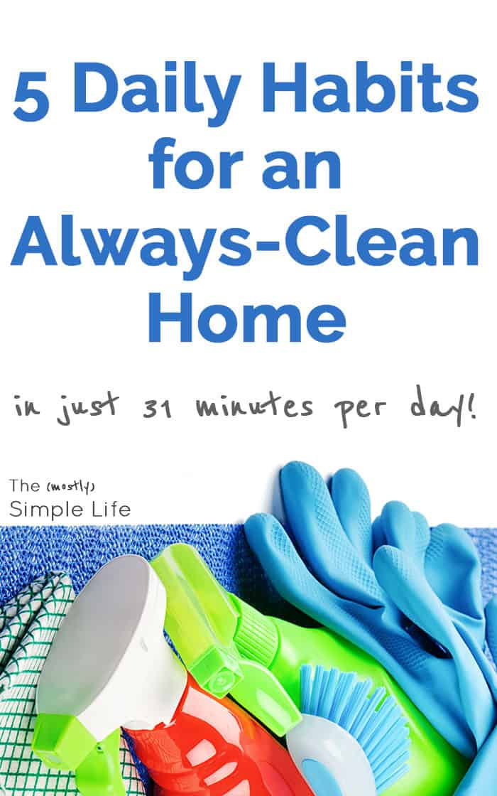 Quick daily chore list to keep your house clean in 30 minutes per day! This is my daily cleaning routine and it works wonders for our home - Our house is always is decent shape - perfect for working moms, people with kids, or with dogs. #chorelist #lifehacks #homemaking #cleanhouse #holidayhack #30minutes #cleanhome #cleaningroutine