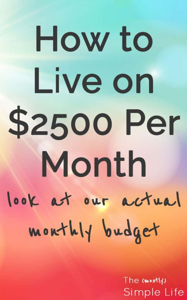 How to Live on $2500 Per Month | Look at our actual monthly budget | Real life budget | Dave Ramsey |