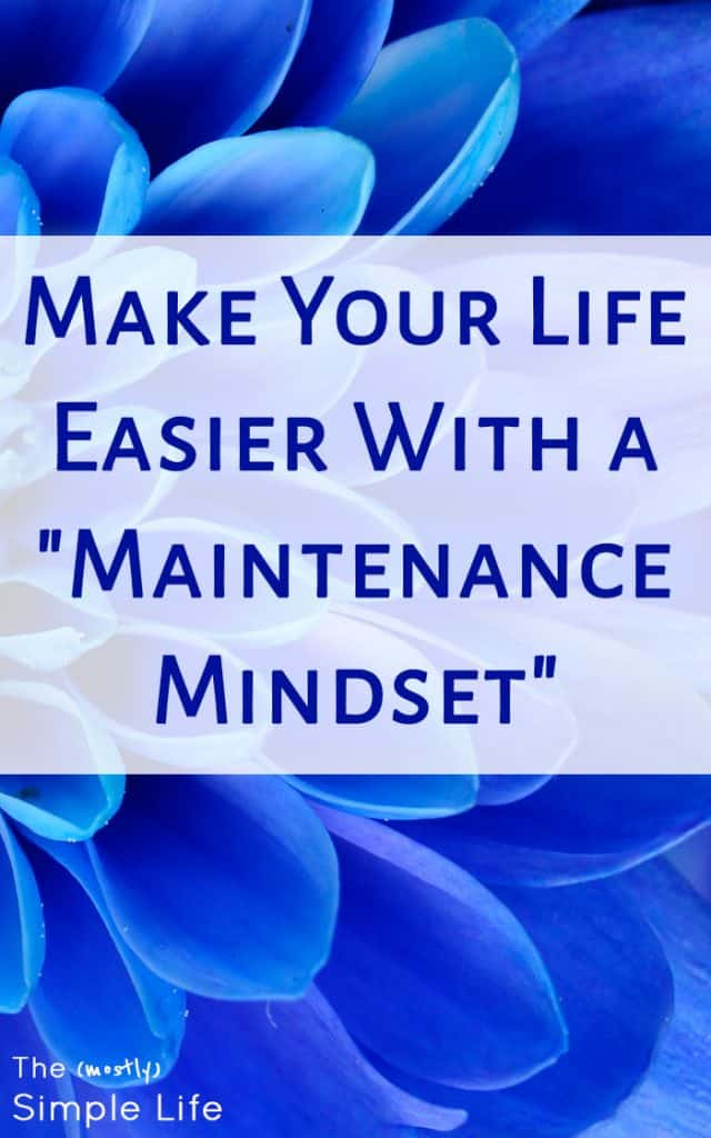 """Make Your Life Easier With a """"Maintenance Mindset"""" 