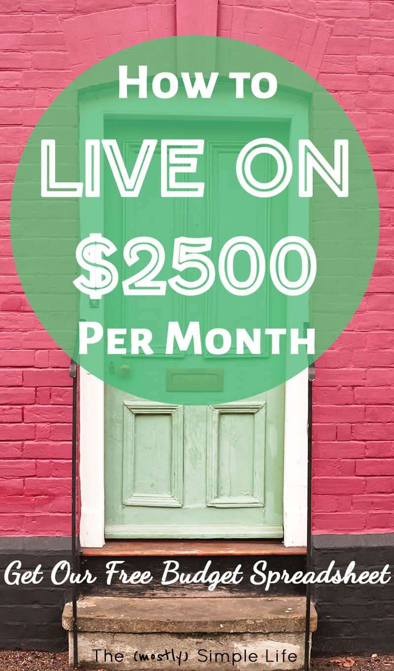 How to Live on $2500 Per Month | Love this example of a real life monthly budget! Maybe they follow Dave Ramsey? Such a helpful example for beginners - love that you can get their spreadsheet / printable. Good tips in here!!! #budget #onabudget #daveramsey #monthlybudget