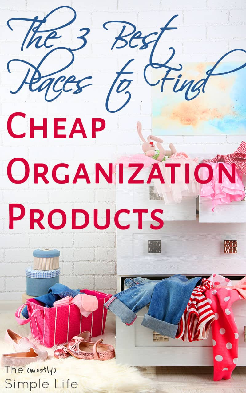 Simple And Cheap Living Room Decoration: The 3 Best Places To Find Cheap Organization Products