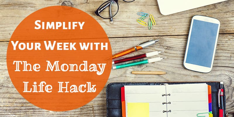 "I can't believe I never thought of this simple hack for how to simplify my schedule! I can't stand the ""Monday struggle"" and I want to start the week right, feeling happy and positive! I'm all about having less stress and an easier Monday morning. Trying this tip for sure!!!"