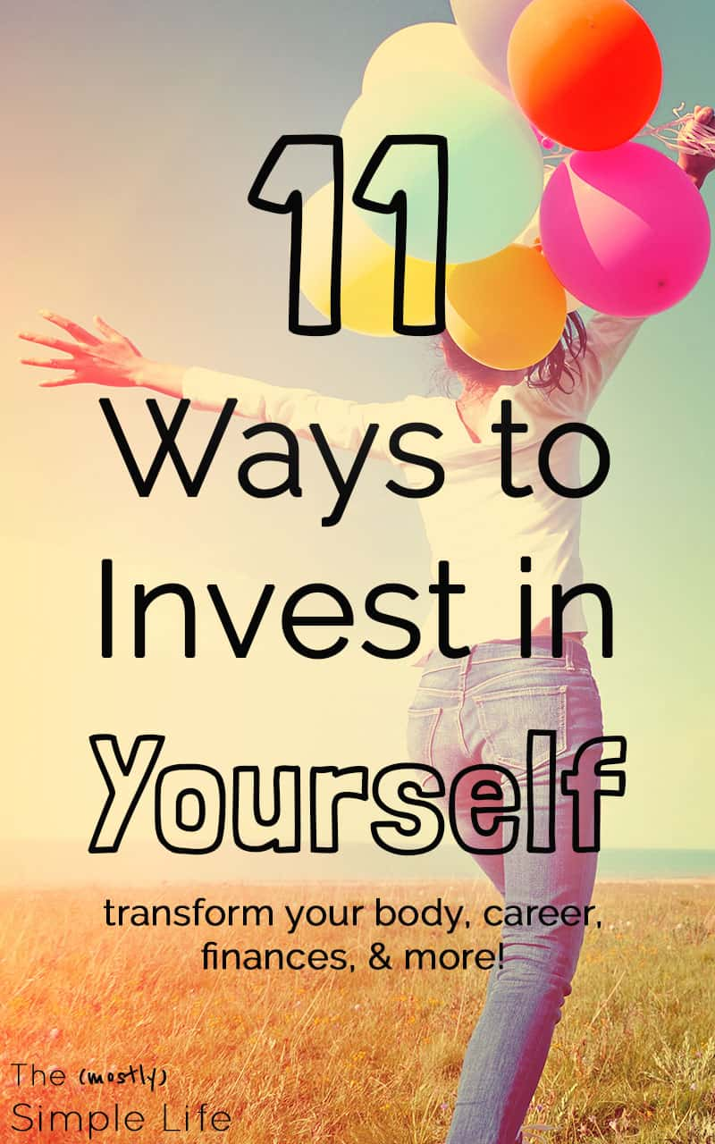 Love this list of ways to invest in yourself! I think this can be difficult for women and families but it's so important. These tips are a huge inspiration - and they're not all super expensive. You can afford it! There are ideas for fitness, health, career, books to read, money... I need to get working on #9