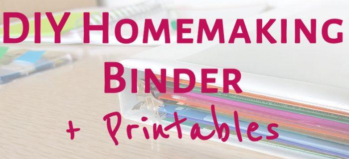 DIY Homemaking Binder
