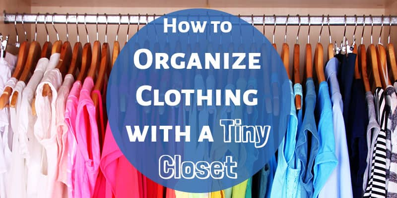 Our bedroom has a tiny closet for two people to share. Love these ideas for how to organize a small closet on a budget (they didn't get a fancy closet system). These ideas should help keep out clothes from exploding everywhere! Haha!