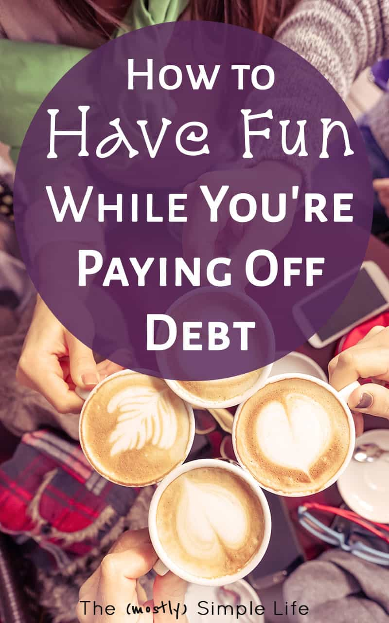 Just what I need! Tips and ideas on how to have fun as you pay off debt. Perfect - fun things to do with friends, at home, for families or for adults... It\'s giving me all kinds of motivation because I want to get out of debt and have freedom so badly!!!