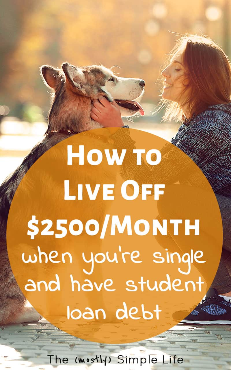 Great real life example of how to budget when you're single and paying off student loans. It's giving me all kinds of ideas on how to do a monthly budget for one person and pay off debt. Shows how to live on $2500 per month which is super helpful for me!