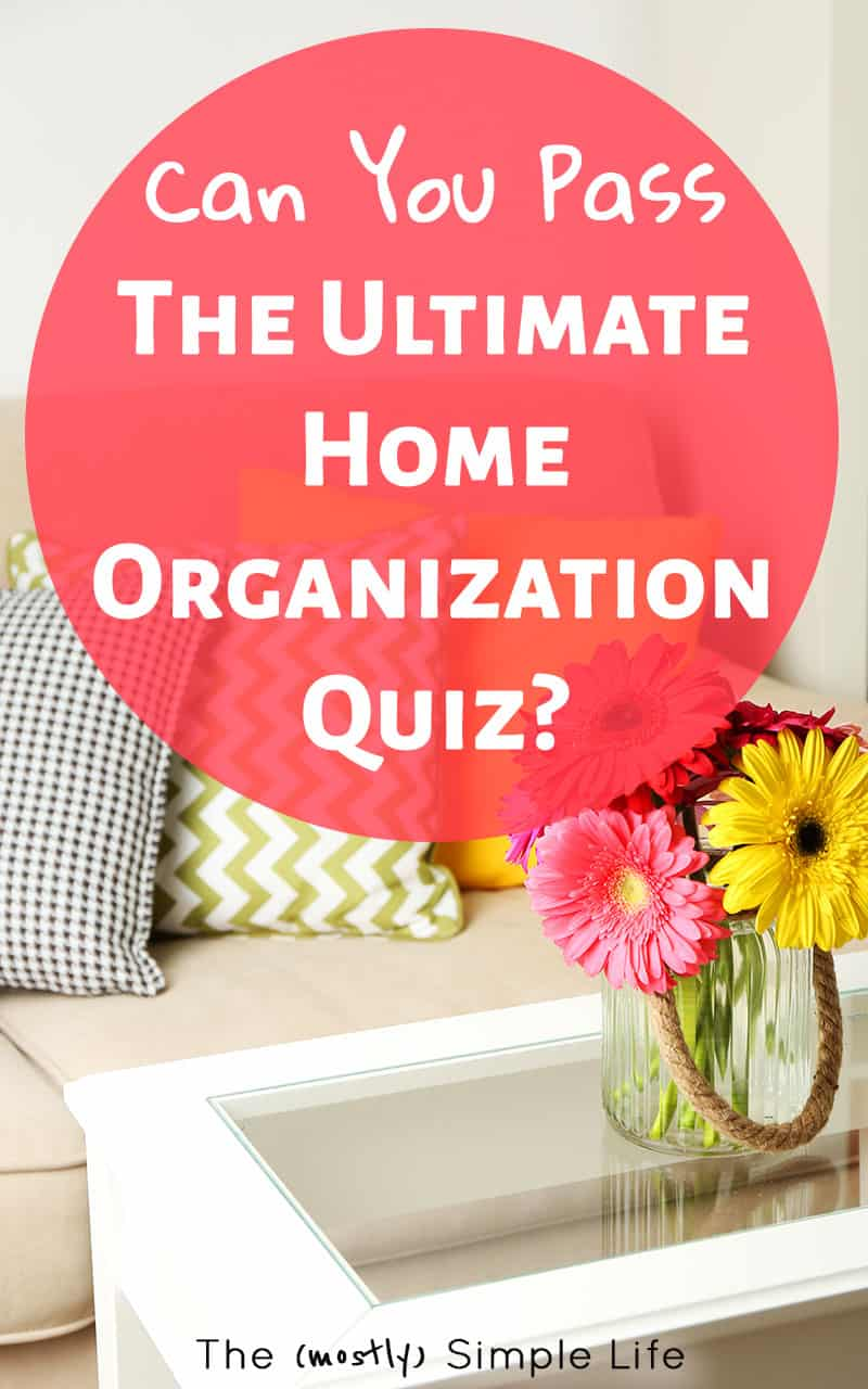 This is a fun quiz to see what areas of your home need some more work when it comes to decluttering and organization. If you think about storage and paperwork, it gets really tricky! There are a lot of good tips though! That third question has me thinking :) #HomeOrganization #Organized #Declutter #Quiz