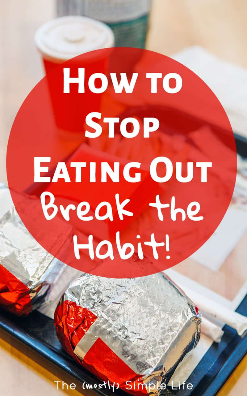 Tips on how to stop eating out so much - It's so hard when you're busy, but as a family on a budget trying to save money, we've got to watch our eating out budget. Ideas for frugal meals, meal planning, and keeping things simple and easy! Might even help with losing weight too :) #moneysavingtips #budget #eatingout