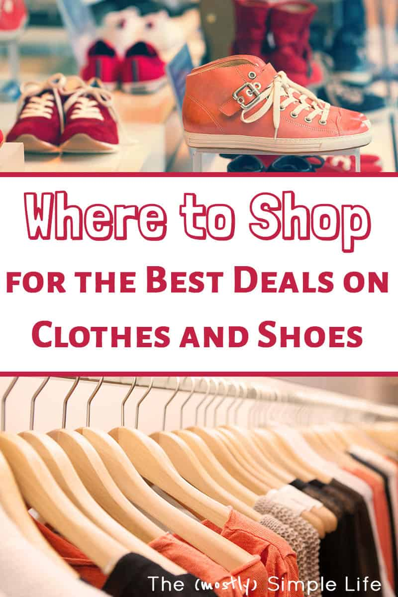 Great tips on exactly where to shop for clothes (for women, teens, men...) to get a great deal and get quality stuff. We are on a budget but still want to look somewhat in style! Love the special tips about online shopping! I hadn't thought to use Amazon like that. #onlineshopping #onabudget #deals #shoeshopping #casualstyle