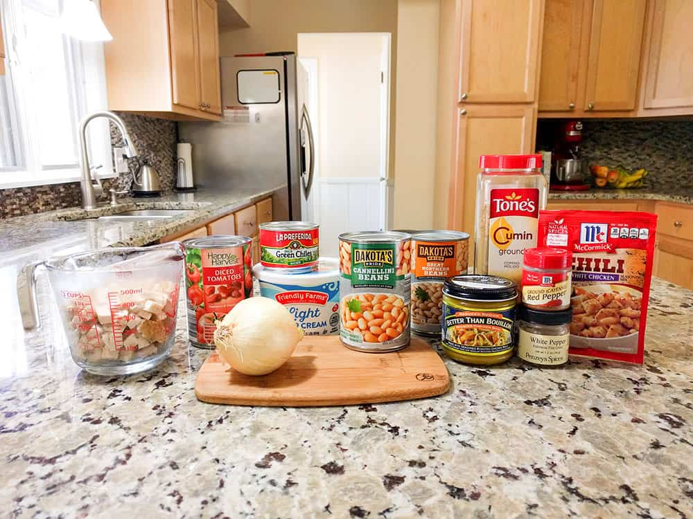 My Fabulous Chicken Chili Recipe - Ingredients