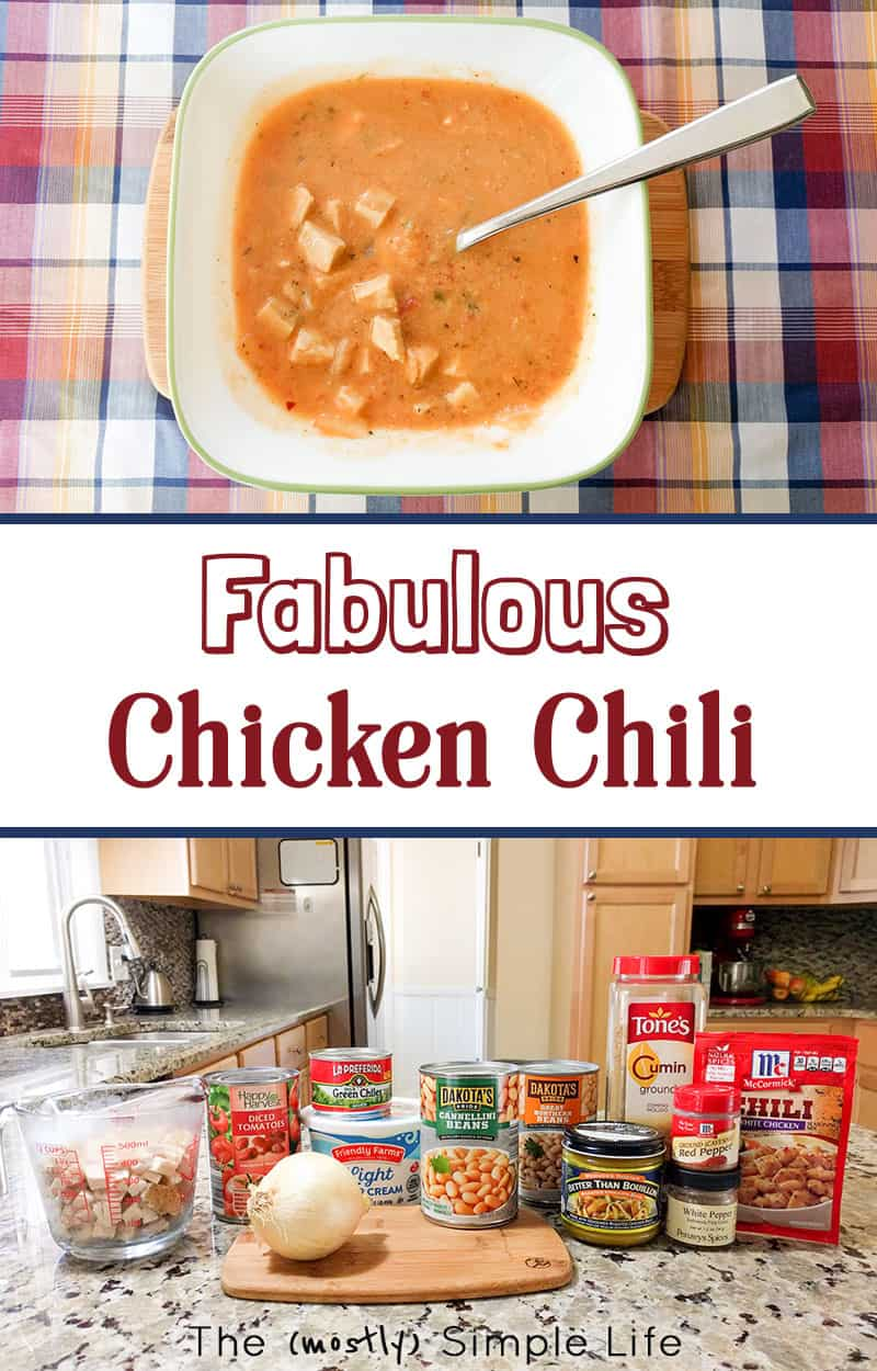 Sharing my special chicken chili recipe! It's healthy, easy, spicy and so darn yummy! Plus, it could be dairy free if you leave out the sour cream at the end. #soup #dinner #winterfood #chicken #beans #foodforacrowd #spicy #whatfordinner #chili #whitechickenchili