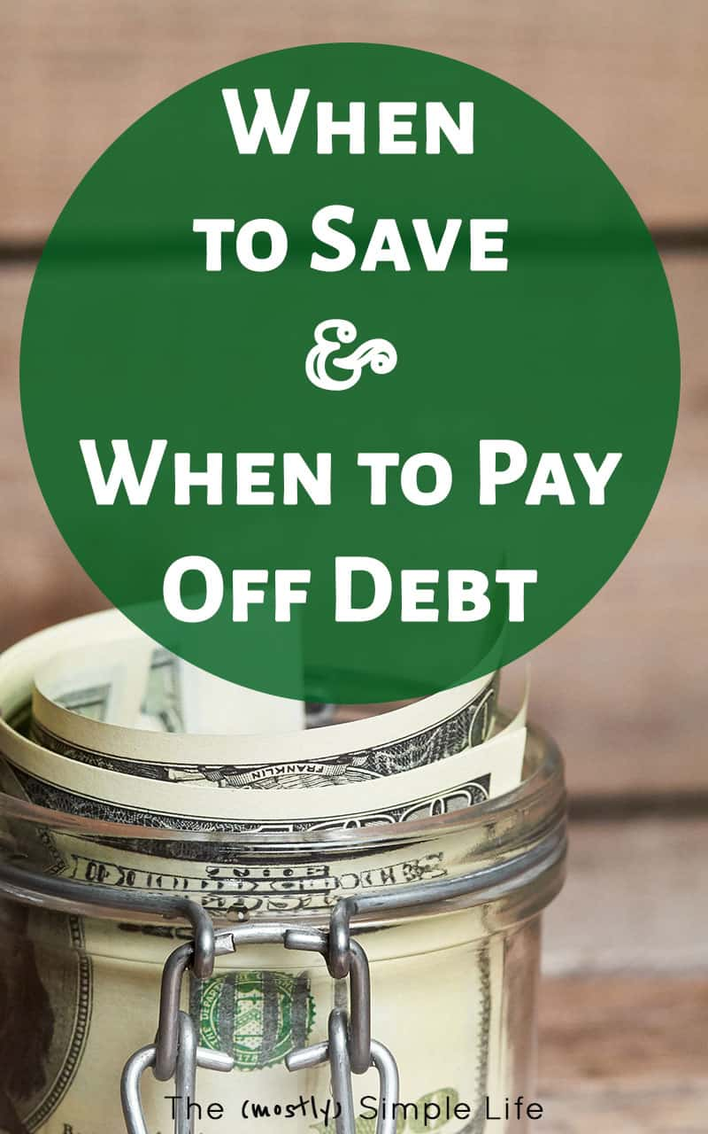 It can be hard to know when to save and when to pay off debt. These tips will help you figure out what to do with extra money - including if you should follow the