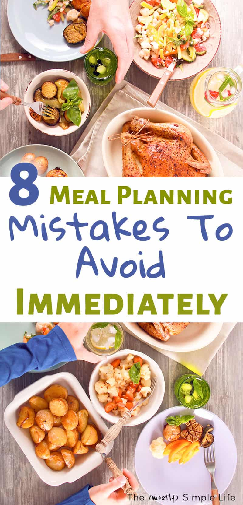 Amazing meal planning tips for beginners! Whether you want to lose weight or you\'re on a budget, this is so helpful. Meal planning helps us with saving money and eating healthy. Love that these hacks are great for busy families. #mealplanning #simple #tips #organization #mistakes #savemoney #loseweight #eathealthy #healthy #mealplan #aldi