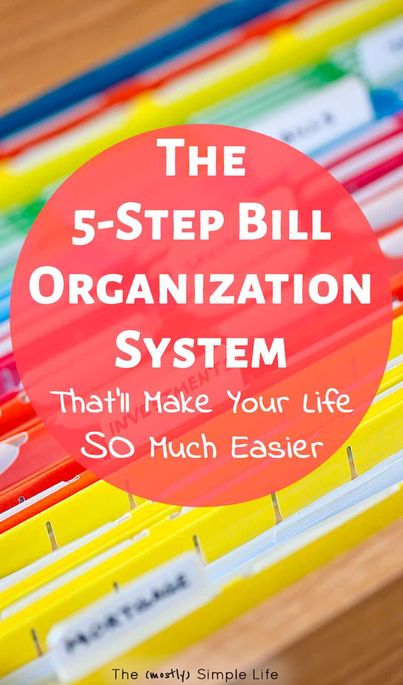 Simple bill organization system! Great ideas for paying your monthly bills with links to free printables for your budget or a homemaking binder. Love the simple tips on how to track bill payment and handle paper clutter. #daveramsey #budget #bills #personalfinance #free #tips #paperclutter