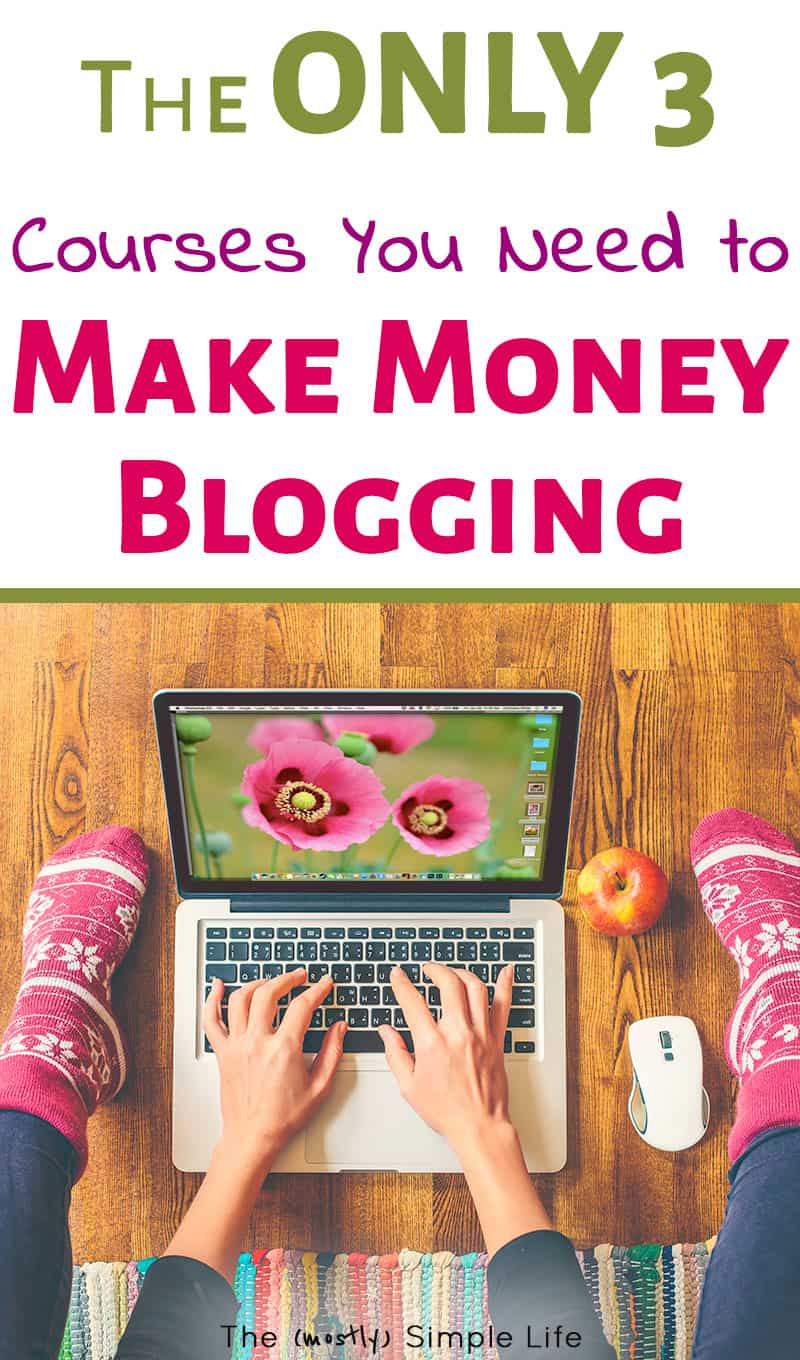 How to make money blogging - these are the best blogging courses for learning affiliate marketing, Pinterest, product creation, and tons more! I stay at home and earn extra cash because of these. #blogging #makemoneyblogging #passiveincome #blogger #bloggingtips #workathome