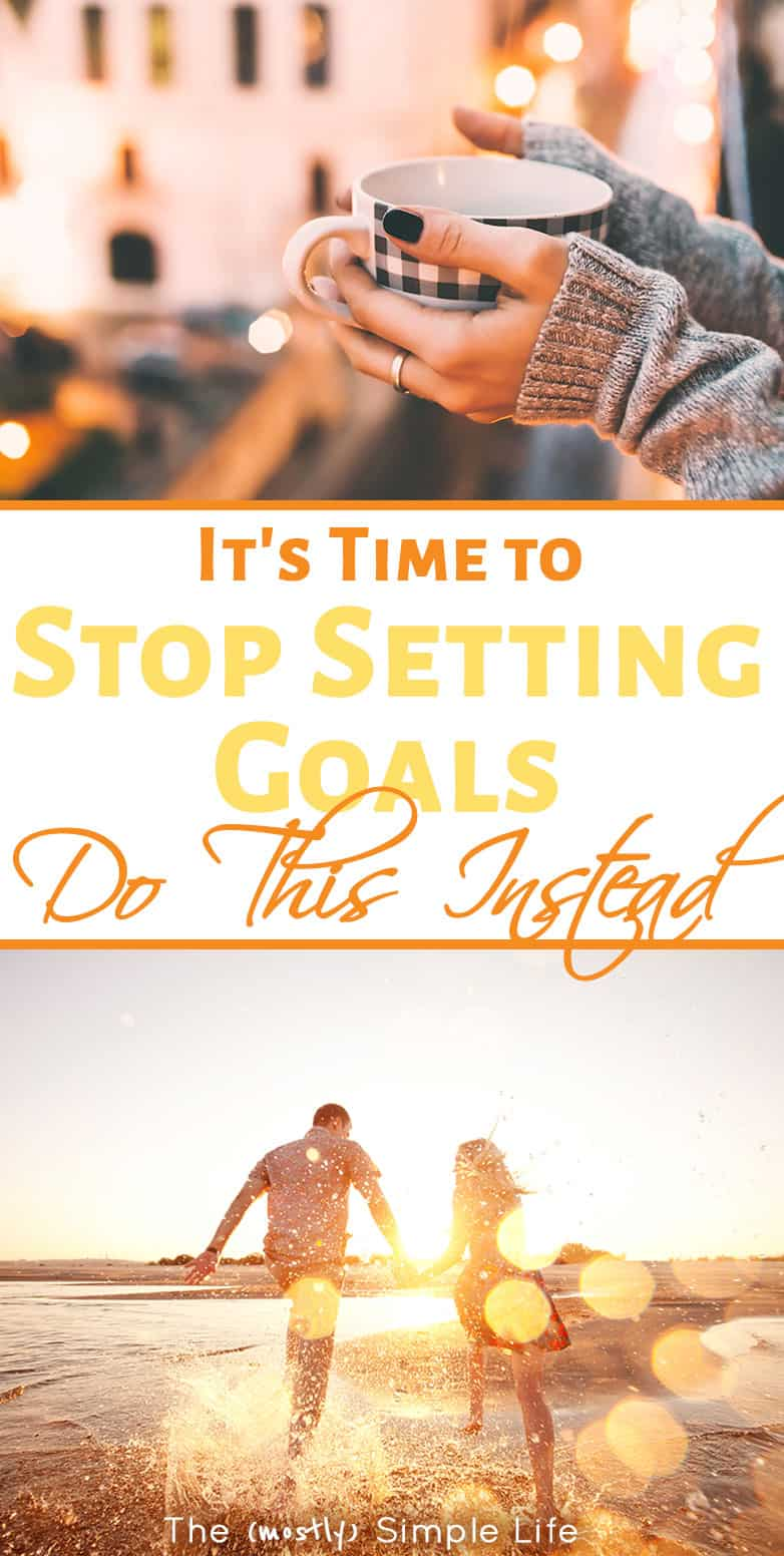 Stop Setting Goals... Do This Instead