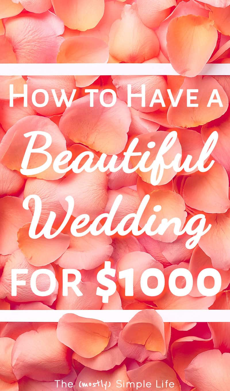 If you\'re planning a wedding on a budget, you\'re going to want to read these ideas! We got married for $1000 in a simple outdoor (beautiful) wedding! It was cheap, classy, and perfect. #wedding #weddingideas #weddingonabudget #onabudget #simplewedding #weddingday #weddingplanning