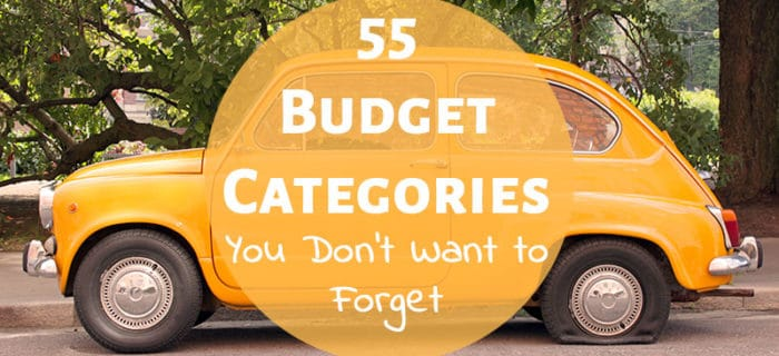 55 Budget Categories You Don't Want to Forget