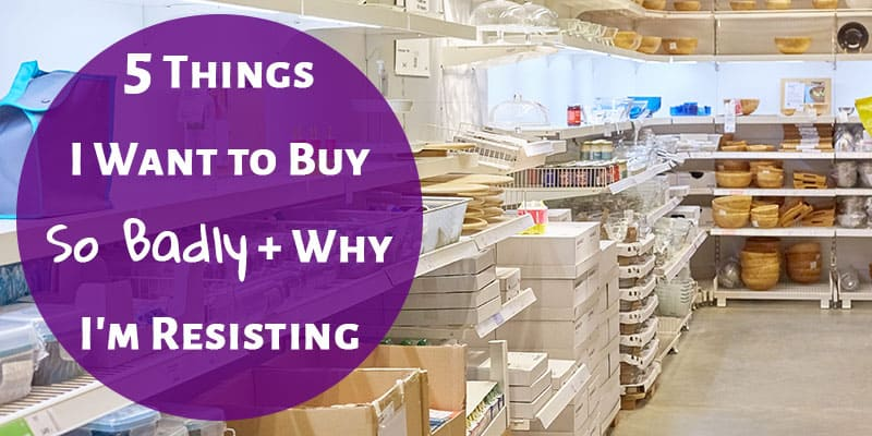5 Things I Want to Buy So Badly + Why I'm Resisting