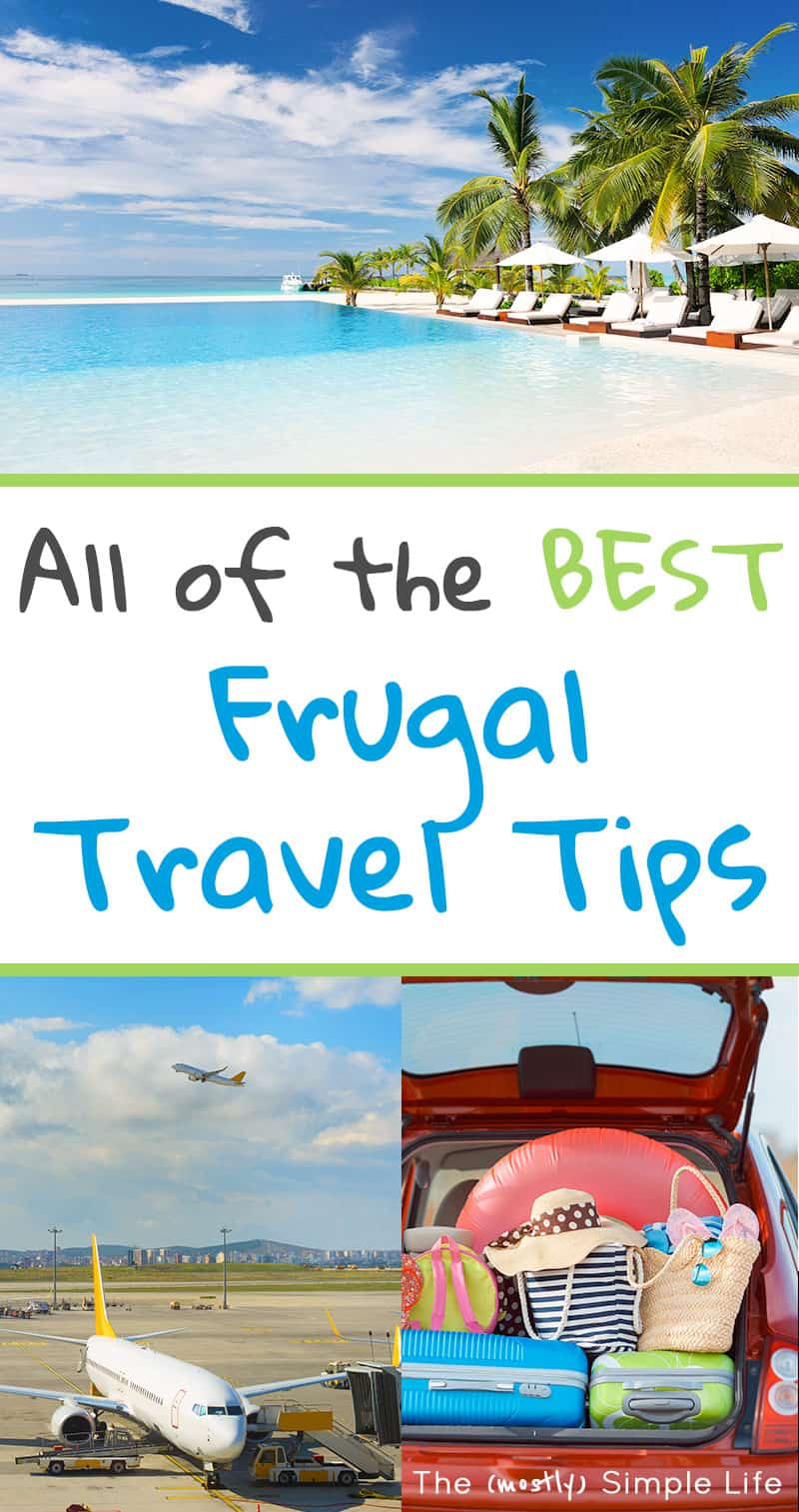 Awesome frugal traveling tips! All about family vacations, road trips, airline tickets and more on a budget! Loving these hacks for saving money. It's giving me ideas for Europe :) #travel #frugalliving #travelhacks #traveling #vacation #familyvacation #onabudget #frugaltravel