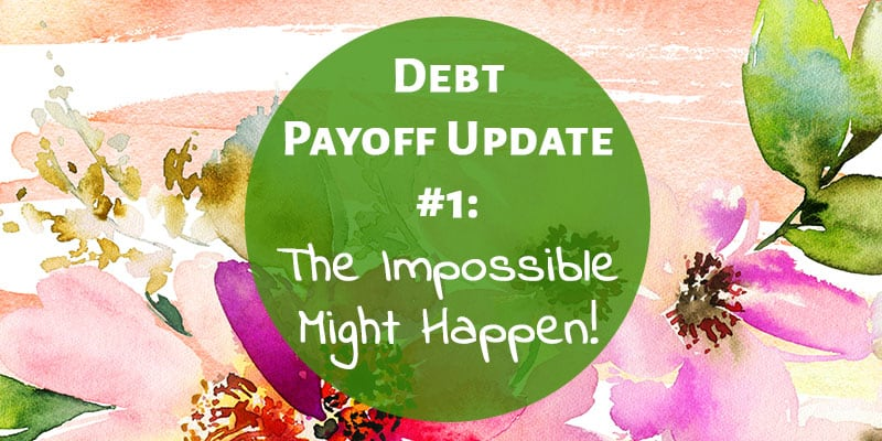 Debt Free Journey Update #1: The Impossible Might Happen!