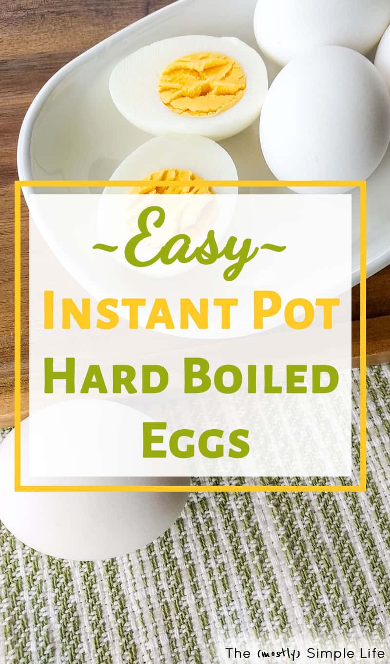The best! Easy peel instant pot hard boiled eggs recipe (I use an 8 quart IP) - turns out perfect every time. Quick and easy healthy snack. #instantpot #healthysnack #recipe #instantpotrecipes #highprotein #eggs #hardboiledeggs #easyrecipes #easysnack #healthyrecipes