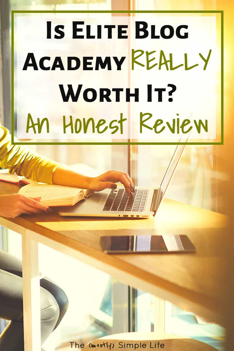 Is Elite Blog Academy worth the cost? If you want to make money blogging, EBA is one of the biggest blogging courses out there, with step by step assignments to help you grow your blog. I wrote up my full review to help you decide if it\'s right for you or for beginners. #EBA #eliteblogacademy #blog #blogging #bloggingtips #blogtips #WAH #MakeMoney #Review #EBAReview #EliteBlogAcademyReview #SocialMedia #writing #writer