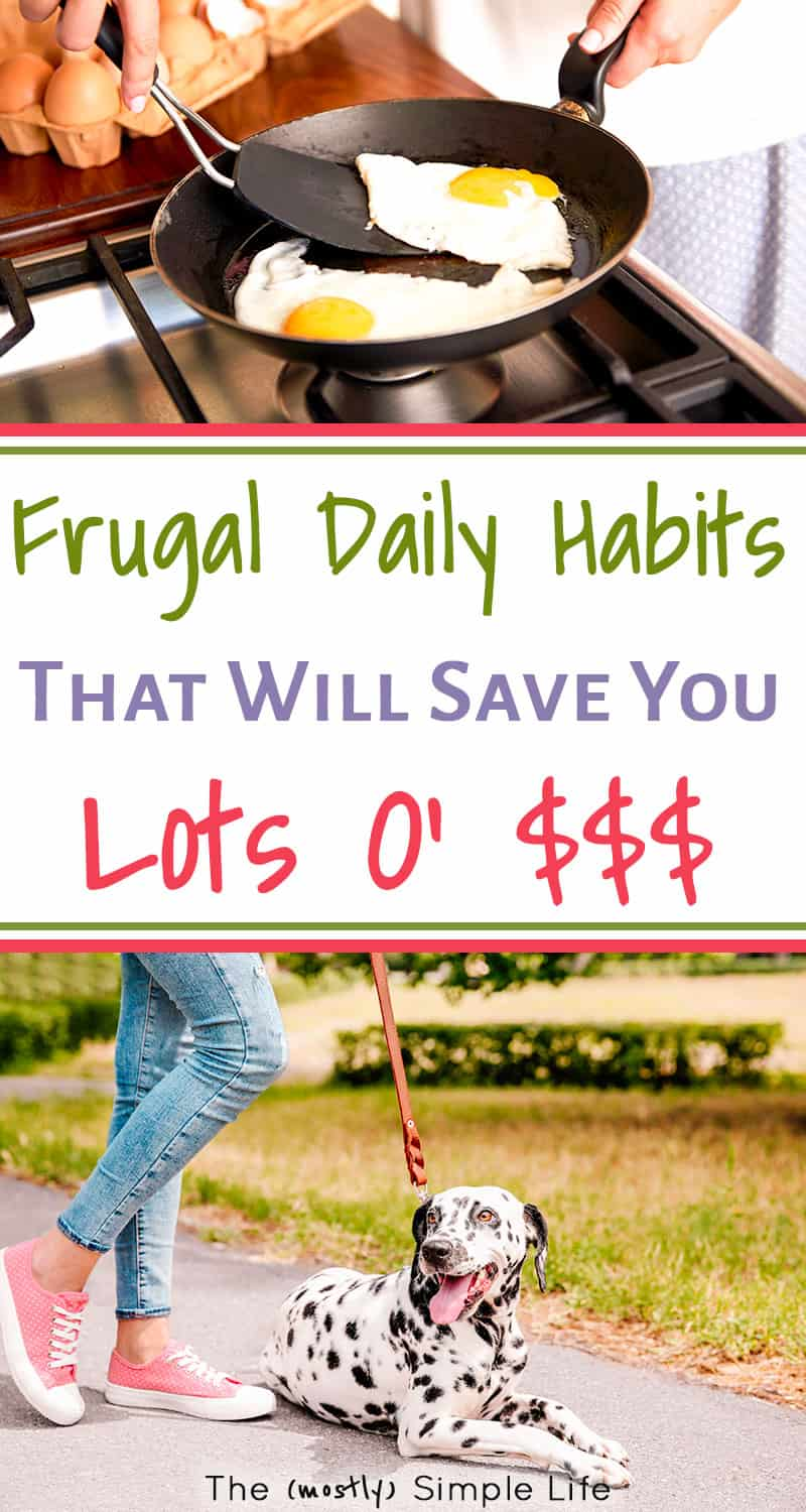 All about the frugal habits we\'ve built into every day! Great money saving tips -- how to be frugal for beginners to help you stay at home, become debt free, save money...These frugal living tips are great for the budget! #personalfinance #finance #debtfree #budget #daveramsey #frugal #frugalliving #savemoney #stayathome #extremefrugality #homemaking #onabudget