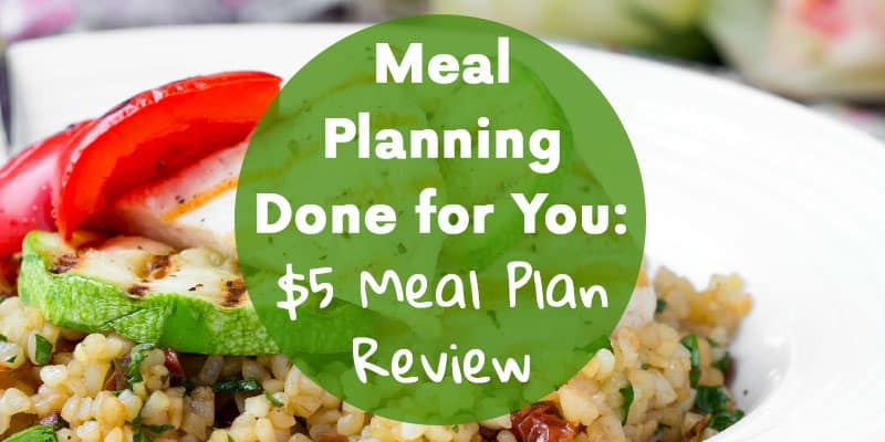 Meal Planning Done for You: $5 Meal Plan Review