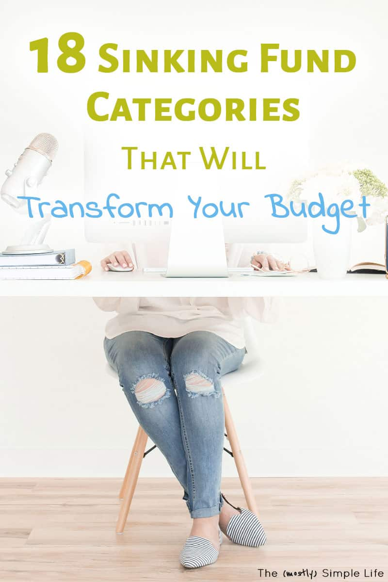 Sinking fund categories you might want in your budget! This list will helps with your budget organization. Great examples plus ideas how to use sinking funds! #daveramsey #budget #money #personalfinance #sinkingfunds #spreadsheet #finance #TMM #babysteps #totalmoneymakeover #debtfree #debtfreecommunity